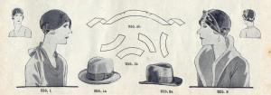 Damenkappen aus Herrenhüten art deco hat